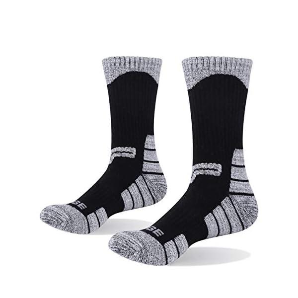 YUEDGE 5 Pares Hombre Senderismo Calcetines para Trekking Camping Ciclismo Tenis y Otros Deportes Transpirable Alto Rendimiento
