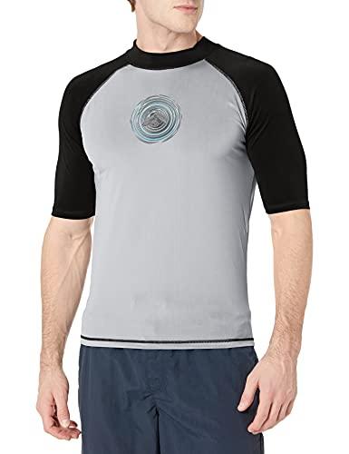 Kanu Surf Men's UPF 50+ Short Sleeve Sun Protective Rashguard Swim Shirt, Sprint Grey, XX-Large