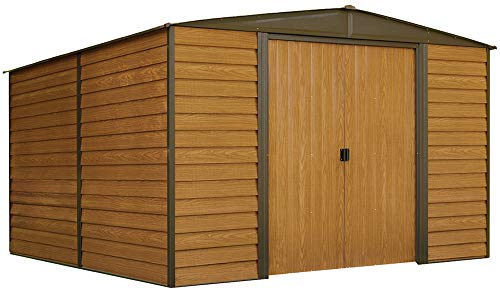 Arrow WR1012 Woodridge EG, 10 by 12-Feet Steel Storage Shed, ft. x ft