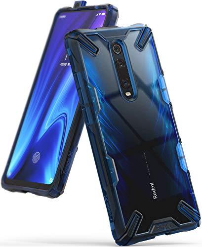 Ringke Cover Fusion-X Compatibile con Xiaomi Mi 9T, Mi 9T Pro e Redmi K20, Redmi K20 Pro Custodia Rigida Protettiva Antiurto TPU Paraurti - Space Blue