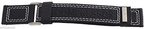 Jaeger Lecoultre maestro compressore nero tessuto velcro fascia 23mm