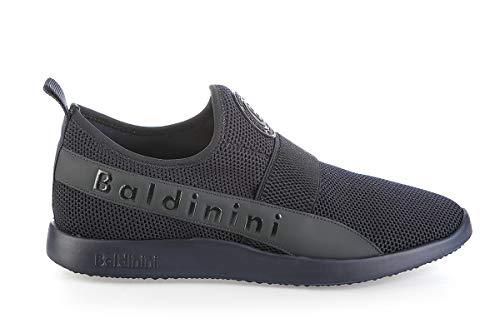 Baldinini 6702 Blue High Tech.Fabric Italian Desgner Men Sneakers