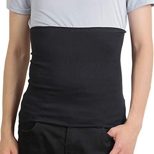 腹巻 メンズ 消臭機能付き 綿 はらまき 薄手 日本製 男女兼用 (クロ)