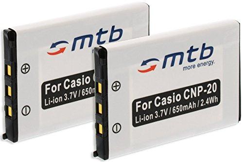 2x Batterie NP-20 per Casio Exilim EX-Z18, EX-Z60, EX-Z65, EX-Z70, EX-Z75