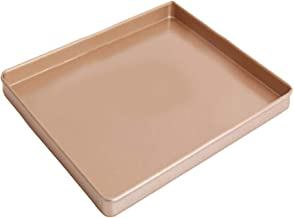 BESTONZON 12 Inch Carbon Steel Baking Mold Nougat Plate Non-Stick Rectangular Cake Molds Baking Pastry Pans (Golden)