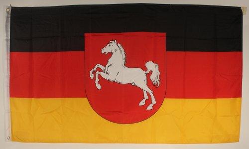 Flagge Fahne Niedersachsen 90x60 cm wetterfest und lichtecht für innen und aussen
