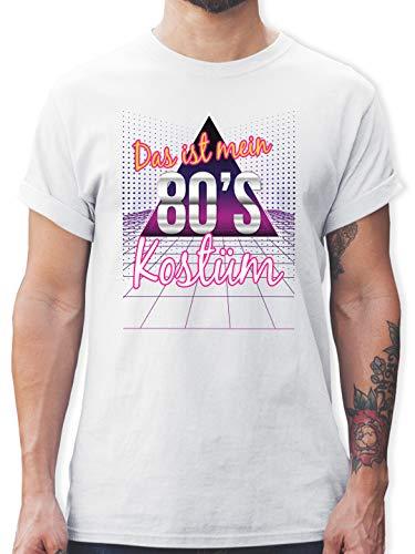Karneval & Fasching - Das ist Mein 80er Jahre Kostüm - L - Weiß - Shirt Herren 80er - L190 - Tshirt Herren und Männer T-Shirts
