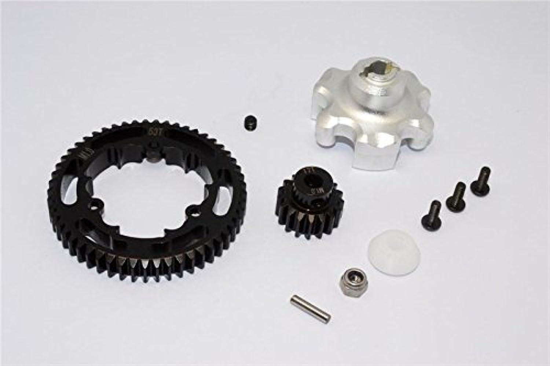 Traxxas XMaxx 4X4 Aluminum Gear Adapter + Steel Spur Gear 53T + Motor Gear 17T  1 Set Silver