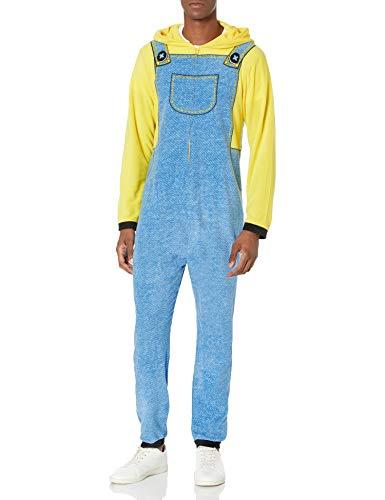 Despicable Me Herren Hooded One Piece Pajama Pyjama Set, Minion, X-Small
