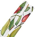 Papel de regalo de rosas mosqueta rojas y hojas verdes de 58 x 23 pulgadas, juego de 2 rollos de papel de regalo, papel de regalo para el día de la madre, Pascua, bodas, cumpleaños o cualqu