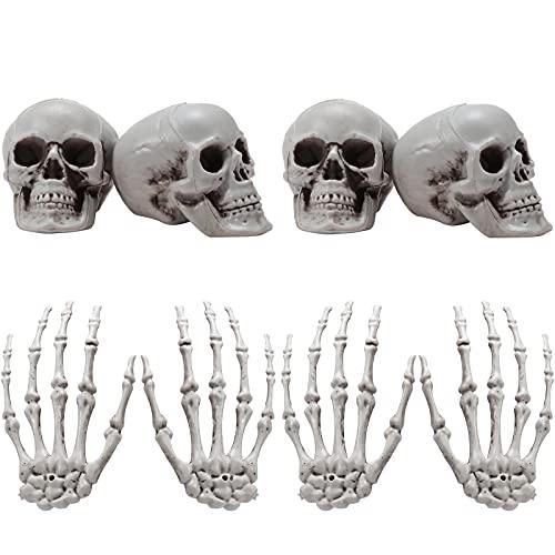 Halloween Decoration Set with Skulls & Skeleton Hands
