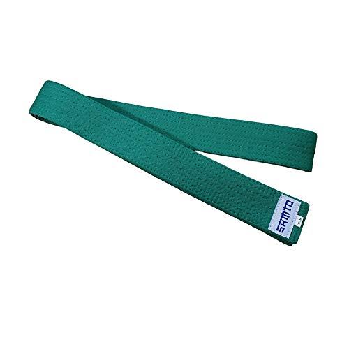 SAMTO Cinturones Judo, Karate, Taekwondo y Otras Artes Marciales (Verde)