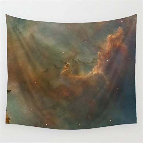 N\A Tapiz de decoración Espacial, Universo Abstracto Nebulosa Galaxia Chakra Infinito psicodélico fotografía impresión Pared Colgante para Dormitorio Sala de Estar Dormitorio, Tierra Amarillo
