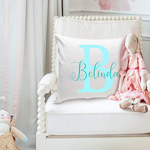 ArthuereBack GC1833 Gepersonaliseerd sierkussen, tweekleurig kussen voor de kinderkamer, decoratie voor de kinderkamer