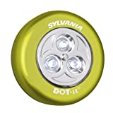 Sylvania DOT-it Self-Adhesive Bright White LED Light, Black