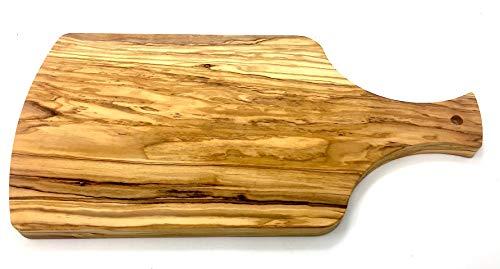 Tabla de cortar 40x20x2cm con mango hecho de madera de olivo hecha a mano en la tabla de desayuno de la tabla de cocina de Mallorca