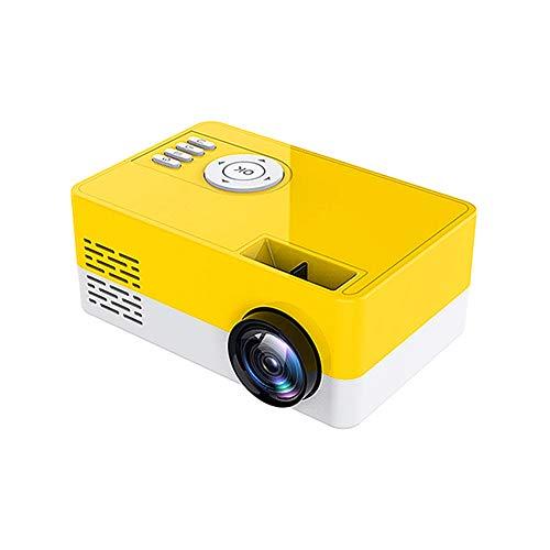 Proyector portátil Aemiy – Proyector HD 1080P para cine en casa, mini proyector de vídeo, altavoz incorporado para ordenador portátil, computadora de escritorio y hogar