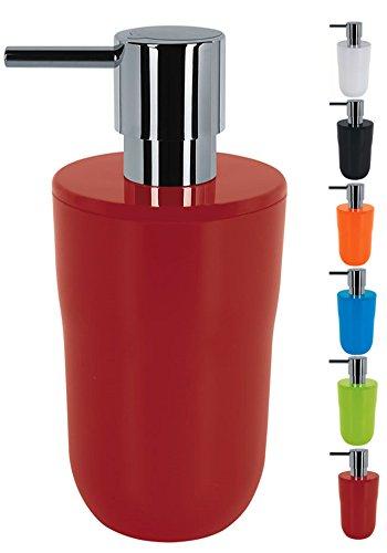 Spirella Seifenspender Cocco Flüssigseifen-Spender, Fassungsvermögen 7,5 x 7,5 x 16,5 cm - 300ml - Rot