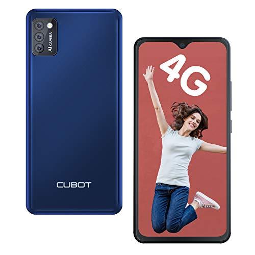 CUBOT Note 7 Smartphone ohne Vertrag 4G Android 10 Go, 5,5' HD Display, 13MP Dreifach Kamera, 2GB/16GB, 128 GB erweiterbar, Daul SIM Triplo Slot Handy (Blau)