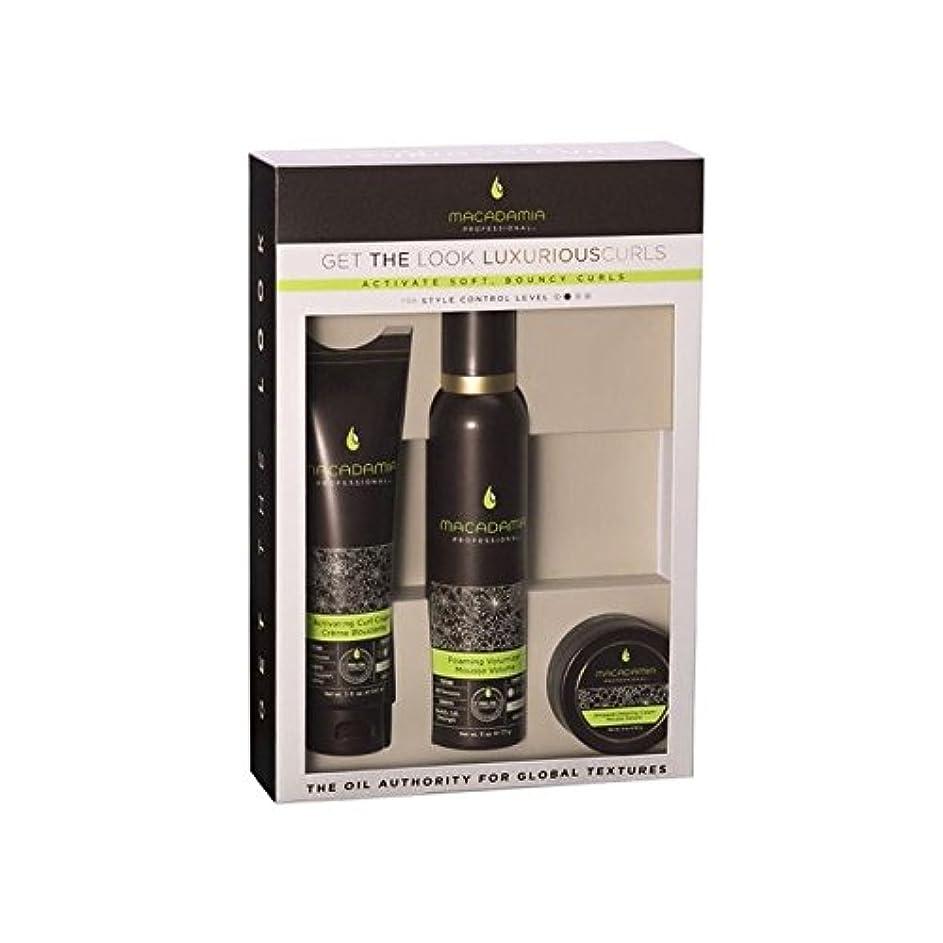劇的吹きさらしテクニカルマカダミアナチュラルオイル「外観を得る」を設定豪華なカール x4 - Macadamia Natural Oil 'Get The Look' Luxurious Curls Set (Pack of 4) [並行輸入品]