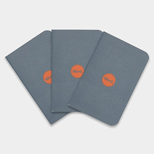 """Word. Notebooks Pocket Notebook for Bullet Journals, Notepads - Mini Notebooks with Solid Color Covers - 3.5"""" x 5.5"""" (3 Pack)"""