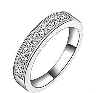 Women's silver ring encrusted with crysta 7