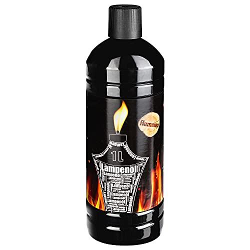 Flameup Lampenoel Lampenöl Petroleum Lampe Garten Oel Fackeln Fackel Laterne Öl Innen Camping 1 Liter Flasche Outdoor Oil Öllampe flüssig Gartenfackel