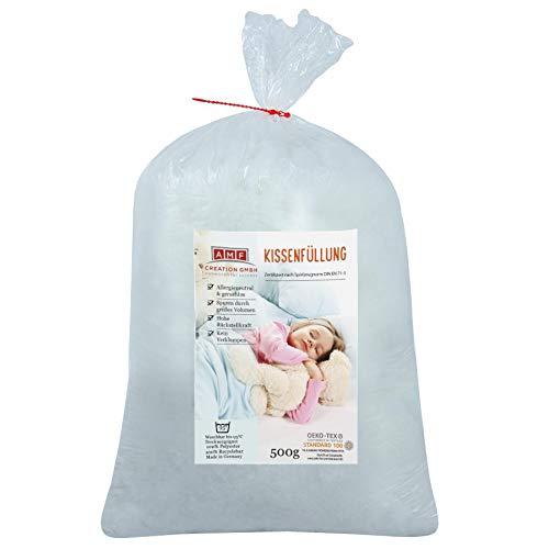 AMF Life Kissenfüllung, waschbar bis 95 Grad, zertifizierte Qualität, 500g
