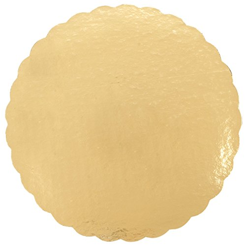 """Gold Cake Board Circles with 10"""" Round Diameter, Set of 20"""
