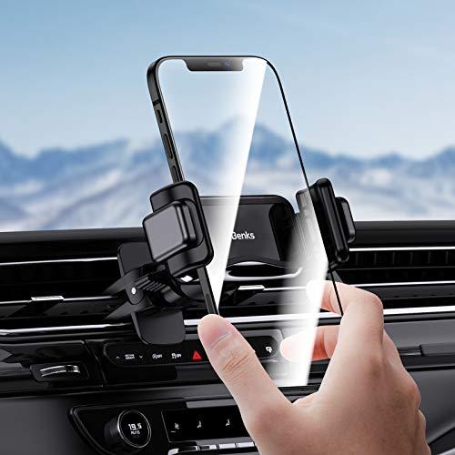 Supporto Smartphone Auto, Porta Smartphone Per Auto Universale Per Presa D'aria Da Auto Compatibile con iPhone 12 11 Pro Max XS X XR 8 SE, (Black)