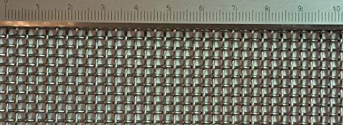 Edelstahl Drahtgewebe mit 2 mm Maschenweite, 1 mm Drahtstärke. 1m x 50cm