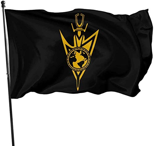 YeeATZ Terran Empire Gold Flags,Outdoor Garden decorates Grommzets Tough Durable Fade Resistant for All Weather Outdoor Single-Sided Printing New