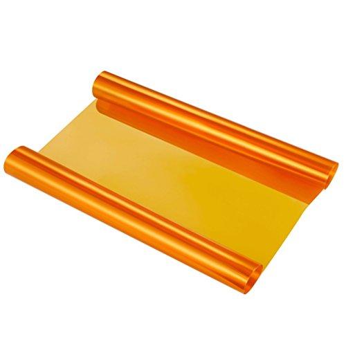 LIOOBO Auto Scheinwerfer Folie Selbstklebende Rückleuchten Nebelscheinwerfer Tönung Wrap Rolle für Autofenster Licht 40x60 cm (Orange)