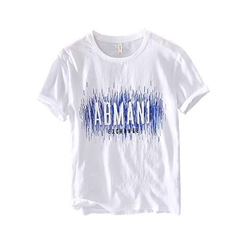 La Nueva Camiseta Informal de Manga Corta para Hombre de Verano con Estampado de Letras