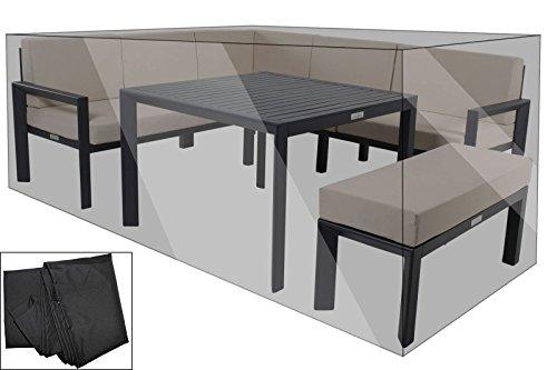 OUTFLEXX Lounge-Abdeckhaube, Schutzhülle in schwarz, Gartenmöbel-Haube, wasserbeständige Abdeckung für besten Schutz
