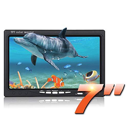 Videocamera Impermeabile, Macchina Fotografica Subacquea per la Pesca Video Fish Finder 7 Pollici HD 800TVL Luce infrarossa Regolabile per Lago di Ghiaccio Barca da Mare Pesca in Kayak