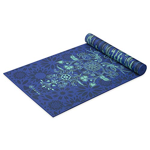Gaiam Yoga Mat Premium Print Reversible Extra Thick Non Slip Exercise amp Fitness Mat for All Types of Yoga Pilates amp Floor Workouts Divine Impressionist 6mm