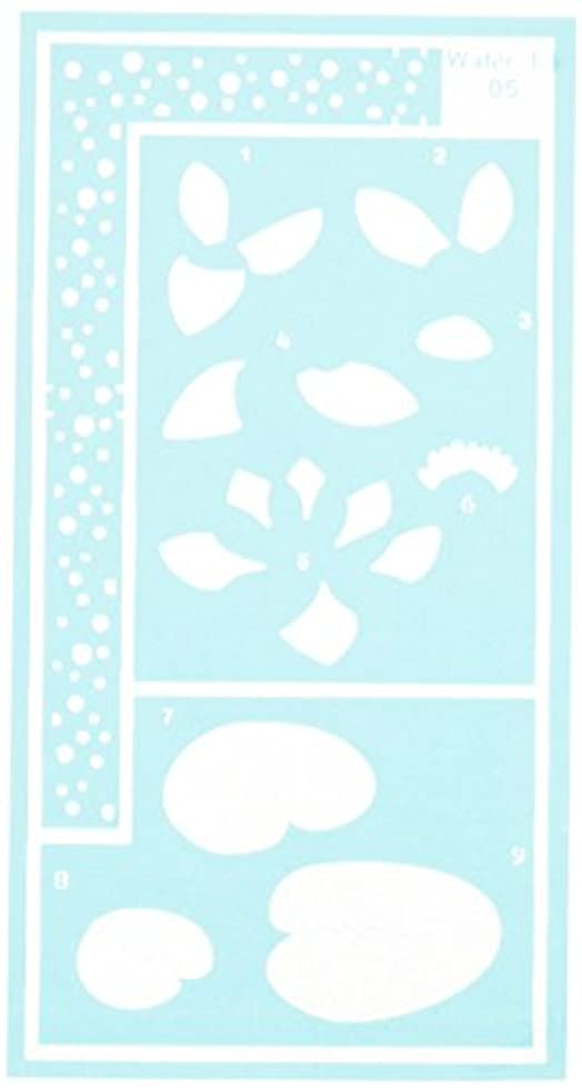 Pergamano 77-53120W Stencil, Water Lily
