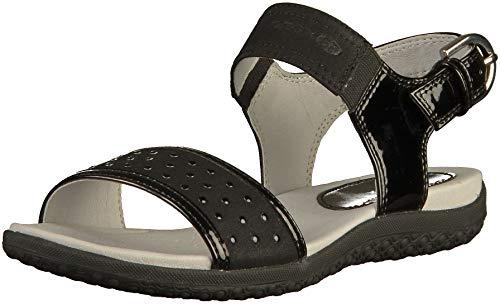Geox Schuhe D Sand.Vega A Black (D92R6A002AUC9999) 38 Schwarz