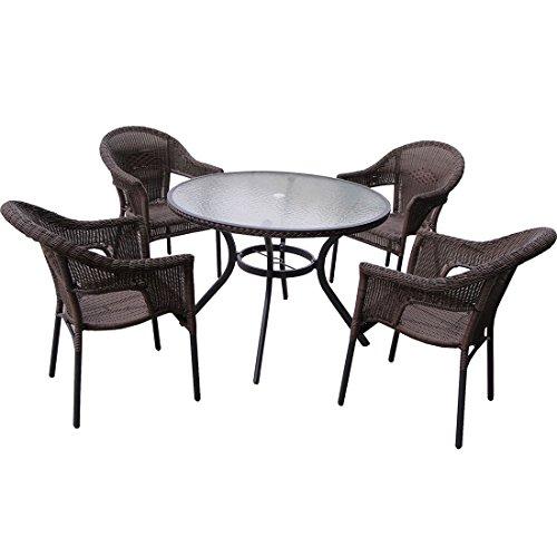 Conjunto De Mesa E Cadeiras Para Jardim Atacama 9140 Mor