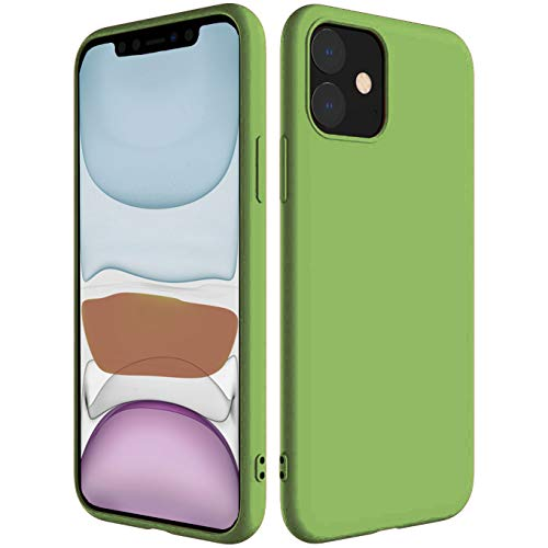 iBarbe Compatible with iPhone 11 PRO MAX 6.5 Inch Case, Soft Silicone Gel Rubber Bumper Case Anti-Scratch Microfiber Lining Phone Bumper with Anti-Scratch Shockproof Protective Cover -Green