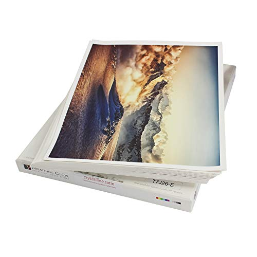 Crystalline Satin Bright White, Poly-Cotton Inkjet Canvas 13in x 19in, 25 Sheets Makes Color and Contrast Art Pop With Its Exquisite Satin Finish