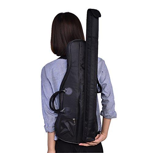 Geigenkoffer Violine Tasche Violin Case Bag Geige-Kasten-Beutel-Kasten-Rucksack mit Tragegurten, tragbare Violine / Viola Oxford-Umhängetasche-weiche Kasten-Geigen-Speicher-Handtaschen-Zusätze