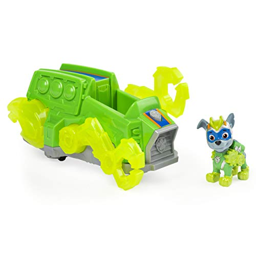 PAW PATROL- Mighty Pups Charged Up Rocky's Deluxe Vehicle
