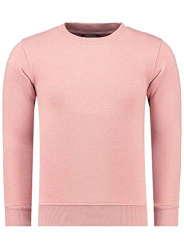 Jeel Sweat Shirt Pullover Herren Warm Winter Uni Rundhals Blackrock Schmale Passform M Rose