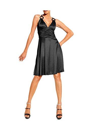 Heine Damen-Kleid Cocktailkleid Schwarz Größe 40
