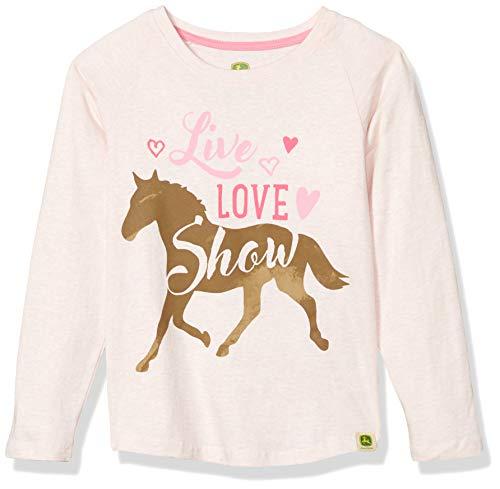 John Deere Girls' Little Long Sleeve TEE, Pink, 5