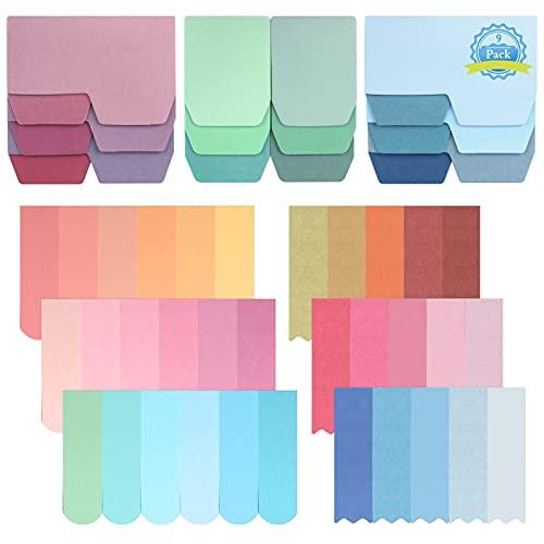 Notas Adhesivos para Marcar 900 Hojas Marcadores Adhesivos de Papel, Hermosos Colores Notas Etiquetas...