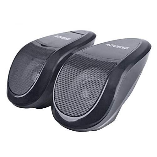 TOTMOX Motocicleta ATV altavoz impermeable reproductor de audio de música sistema de audio FM Radio