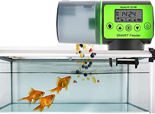Futterautomat für Fische Aquarium mit digitaler Timer Fischfutterspender Fütterung Zeit Einstellung für Fisch Tank und Schildkröten Tank (A)